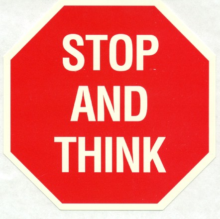 stop and think -tábla